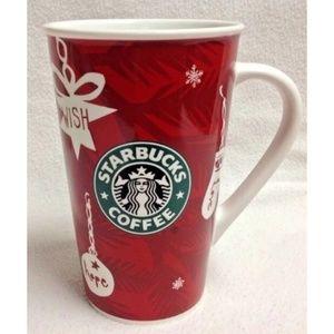 Starbucks Christmas 2009 coffee mug red mint